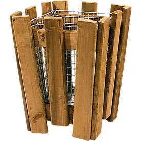 Afvalbak M8 met houten plankjes