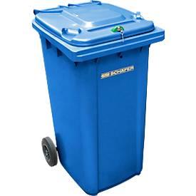 Afvalcontainer GMT 240 liter, voor vertrouwelijke papieren, blauw