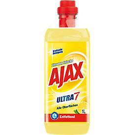 Ajax Allzweckreiniger Ultra 7, Zitronen-Frische, Inhalt 1 Liter