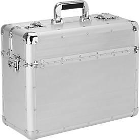 Aktenkoffer Betha, aus Aluminium, silber