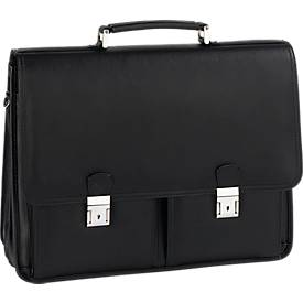 Aktentasche, mit Laptopfach, schwarz
