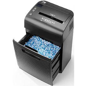 Aktenvernichter ShredMatic 35120, Partikelschnitt 3 x 9 mm, P4, 28 l, 9-120 Blatt, mit Rollen, schwarz