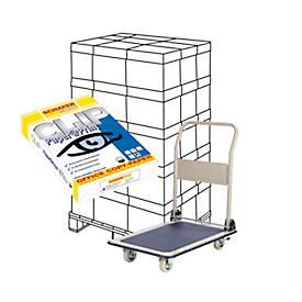 Aktion Kopierpapier SCHÄFER SHOP CLIP Paper@Print, A4, 80g/m², weiß, 100000 Blatt + GRATIS Plattformwagen