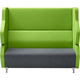 Akustik-Lounge FORUM Zwei-Sitzer mit hoher Rückenlehne