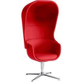 Akustik Sessel NOW, inklusive Akustik-Kapuze, ideal für Rückzugsmöglichkeiten