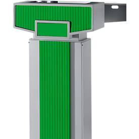Akzentleisten PLANOVA ERGOSTYLE, für Schreibtisch 90° und 135°, zweistufige Verstellung, 9 Stück, grün