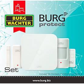 Alarmanlage B-PROT-SET-2200, 5-tlg., 100dB, Reichweite 200 m, LAN/WLAN/GS, steuerbar per App, weiß