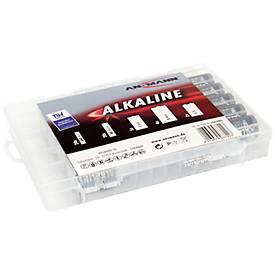Alkaline Batterien, Mischbox groß, 55 Stück
