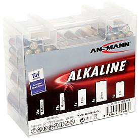 Alkaline Batterien, Mischbox klein, 35 Stück