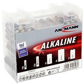 Alkaline Batterien, Mischbox klein, versch. Stückzahlen