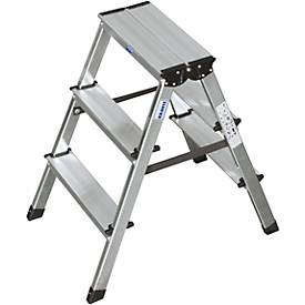 Alu-Stufendoppelleiter, 2 x 3 Stufen