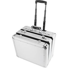 Image of ALUMAXX Multifunktions-Koffer Challenger, mit Tragegriff und Rollen, 2 Fächer, silber