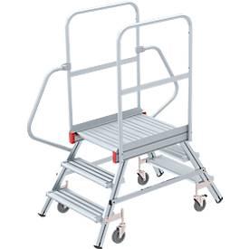 Aluminium-Rollpodest, beidseitig
