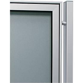 Aluminium-Ständer-Set, Rechteckrohr, z. Einbetonieren, 80 x 40 x 2150 mm