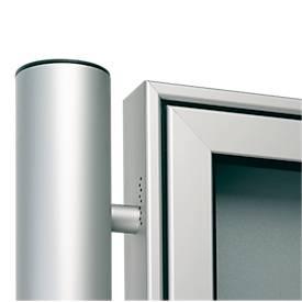 Aluminium-Ständer-Set, Rundrohr, z. Einbetonieren, Ø 80 x 2400 mm