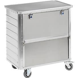 Aluminium transportwagen, 355 liter, met deksel