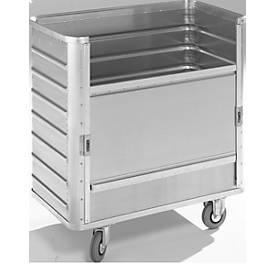 Aluminium transportwagen, 355 liter, zonder deksel