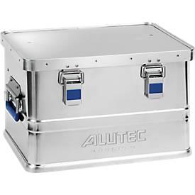 Aluminiumbox Alutec Basic, Materialstärke 0,8 mm, stapelbar, mit 1,5 mm Deckel, 30 l Volumen