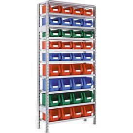 Anbauregal R 3000, Kunststoffkästen