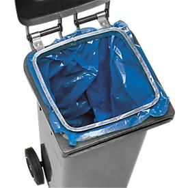 Anneau galvanisé pour container pour fixation de sacs plastique de 120 litres