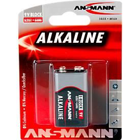 Ansmann Alkaline Block E Batterien, 9 Volt, besonders lange Lebensdauer, 1 Stück