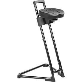 Apoyo de pie «Die Standhafte», asiento de espuma integral, negro