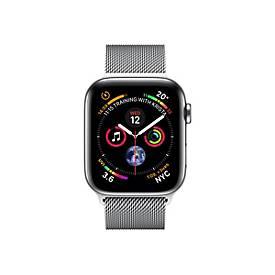 Apple Watch Series 4 (GPS + Cellular) - Edelstahl - intelligente Uhr mit Milanaise Armband - 16 GB - nicht angegeben