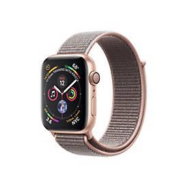 Apple Watch Series 4 (GPS) - Gold Aluminium - intelligente Uhr mit Sportschleife - rosa sandfarben - 16 GB