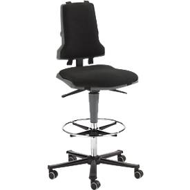Arbeits-Stuhl COUNTER Sintec mit Sitz-Stopp-Rollen