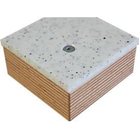 Arbeitsplatte Solidur, PE500, 8 mm stark, L 2000 x B 700 x H 8 mm, weiß/schwarz, fein marmoriert