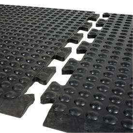 Arbeitsplatzmatte Bubblemat Nitril, Modulfunktion Endmatte, 600 x 900 mm