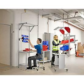 Arbeitsstation aus Aluminium mit Aufbauportal, leitfähig ESD