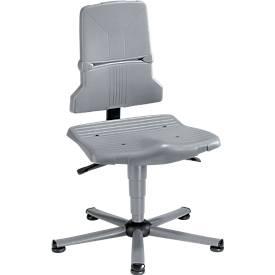 Arbeitsstuhl bimos SINTEC, Permanentkontakt mit Sitzneigungsverstellung, Orthositz, ohne Armlehnen & Polsterung, mit Gleitern