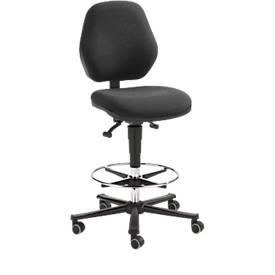 Arbeitsstuhl COUNTER Basic, Sitz-Stopp-Rollen, anthrazit