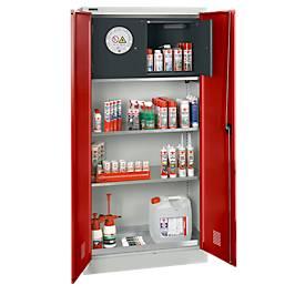 Armario para materiales con compartimento de seguridad tipo 30
