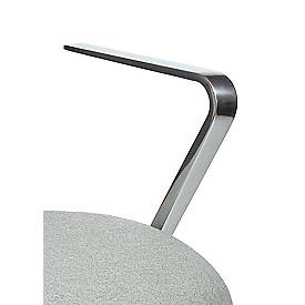 Armlehnen zu Drehstuhl Commander, aus poliertem Vollaluminium, 1 Paar