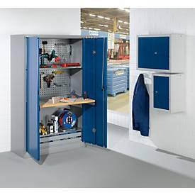 Armoire d'atelier à portes pliantes, l. 1200 x P 500 x H 1935 mm