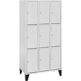 Armoires à casiers, 3 x 3 casiers, 400 mm, à pieds
