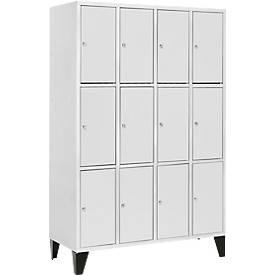 Armoires à casiers, 4 x 3 casiers, 300 mm, à pieds