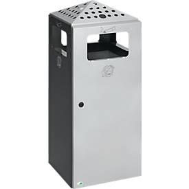 AS-/afvalcombi Design H92 voor buiten, antraciet/zilver
