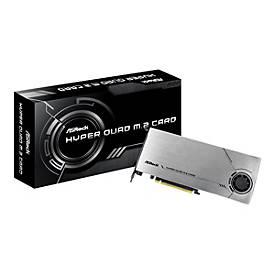 Image of ASRock HYPER QUAD M.2 CARD - Schnittstellenadapter - M.2 Card - PCIe 4.0 x16