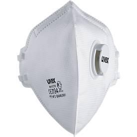 Atemschutzmaske Uvex silv-Air 3310, FFP 3 NR D, Faltmaske mit Ausatemventil, weiß, 15 Stück
