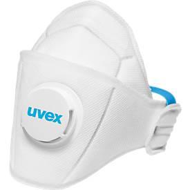 Atemschutzmaske Uvex silv-Air 5110, Schutzstufe FFP 1 NR, EN 149, Ausatmungsventil, weiß, 15 Stück