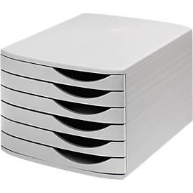 ATLANTA Schubladenbox, 6 flache Schubladen geschlossen