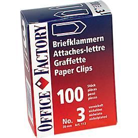 Attache-lettres, 24 mm, 100 pièces