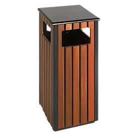 Außenabfallbehälter 36 L, rechteckig mit 4 Einwurföffnungen