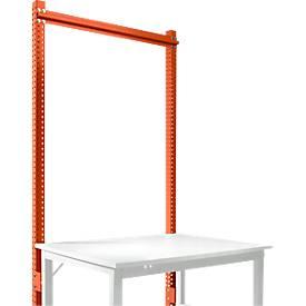 Aufbauportal, Grundtisch SPEZIAL Arbeitstisch-/Werkbanksystem UNIVERSAL/PROFI, 1250 mm, rotorange