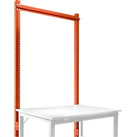Aufbauportal, Grundtisch STANDARD Arbeitstisch-/Werkbanksystem UNIVERSAL/PROFI, 1250 mm, rotorange