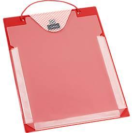 Image of Auftragstaschen, Klettverschluss, Aufbewahrungsfach und Dehnfalte, DIN A4, rot