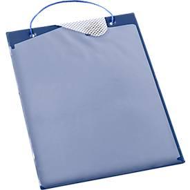Auftragstaschen, Klettverschluss und Aufbewahrungsfach, DIN A4, blau